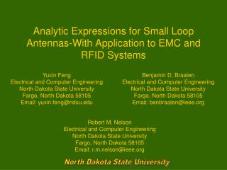 Analytic Expressions for Small Loop Antennas-With Application to EMC and RFID Systems