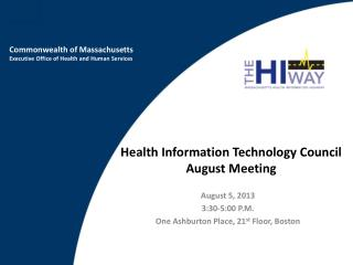 Health Information Technology Council August Meeting