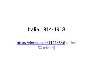 Italia 1914-1918