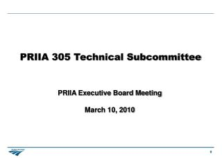 PRIIA 305 Technical Subcommittee