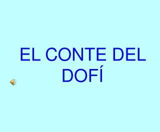 EL CONTE DEL DOFÍ