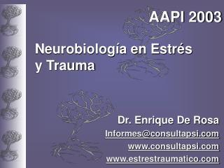 Neurobiolog a en Estr s y Trauma