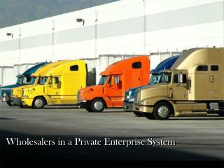 Wholesalers in a Private Enterprise System