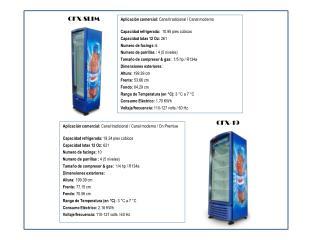 Aplicación comercial:  Canal tradicional / Canal moderno  Capacidad refrigerada:   10.95 pies cúbicos Capacidad latas 1