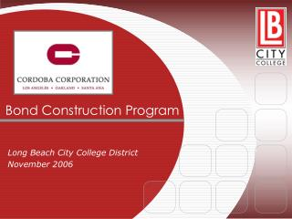 Bond Construction Program