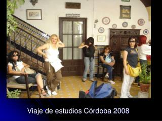 Viaje de estudios Córdoba 2008