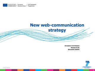 New web-communication strategy