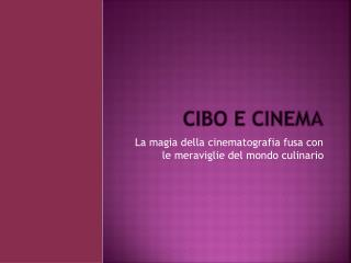 Cibo e Cinema