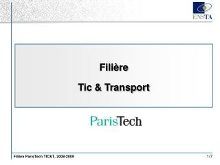 Filière Tic & Transport