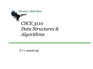 CSCE 3110 Data Structures & Algorithms
