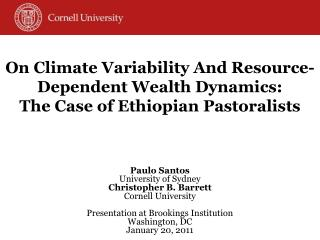 On Climate Variability And Resource-Dependent Wealth Dynamics: The Case of Ethiopian Pastoralists