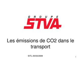 Les émissions de CO2 dans le transport