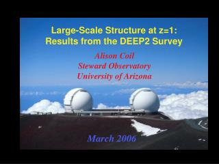 Large-Scale Structure at z=1: Results from the DEEP2 Survey