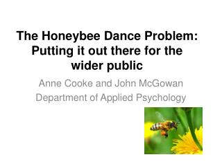 The Honeybee Dance Problem: Putting it out there for the wider public