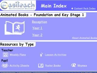 Easiteach Animated Books content