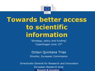 Towards better access to scientific information