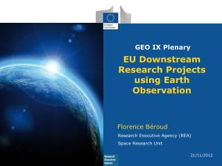 EU Downstream Research Projects using Earth Observation