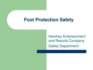 Foot Protection Safety