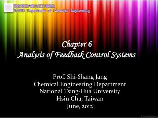 Chapter 6 Analysis of Feedback Control Systems