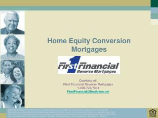 Home Equity Conversion Mortgages