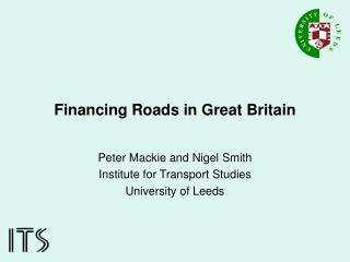 Financing Roads in Great Britain