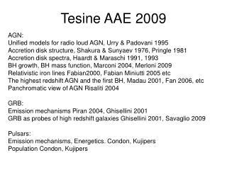 Tesine AAE 2009
