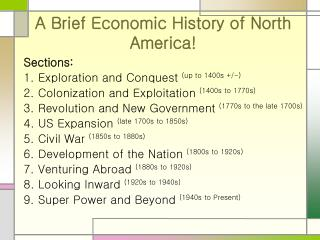 A Brief Economic History of North America!