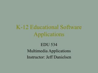 K-12 Educational Software Applications