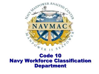 Code 10 Navy Workforce Classification  Department
