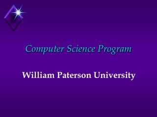Computer Science Program