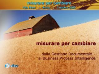 misurare per cambiare Villa Miani    -   Roma    -   7 ottobre 2005