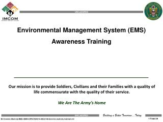 Environmental Management System (EMS) Awareness Training