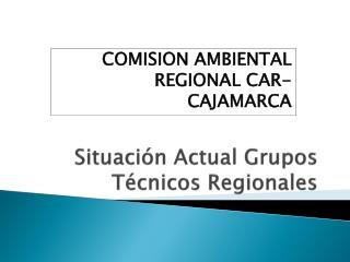 Situación Actual Grupos Técnicos Regionales