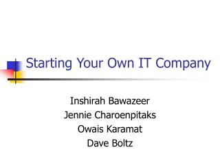 Starting Your Own IT Company