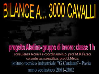 BILANCE A... 3000 CAVALLI