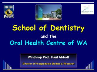 Winthrop Prof .  Paul  Abbott Director of Postgraduate Studies & Research
