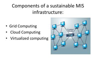 Components of a sustainable MIS infrastructure: