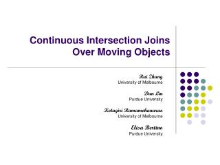 Continuous Intersection Joins Over Moving Objects