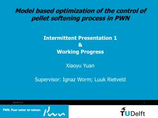 Model based optimization of the control of pellet softening process in PWN