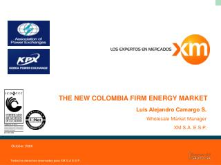 THE NEW COLOMBIA FIRM ENERGY MARKET