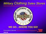 Military Clothing Sales Stores