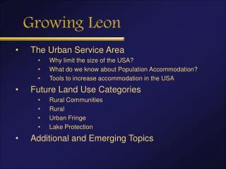 Growing Leon
