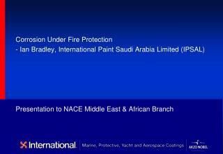 Presentation to NACE Middle East  African Branch