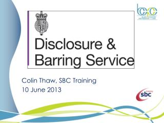 Colin Thaw, SBC Training 10 June 2013