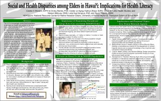 Social and Health Disparities among Elders in Hawai'i: Implications for Health Literacy