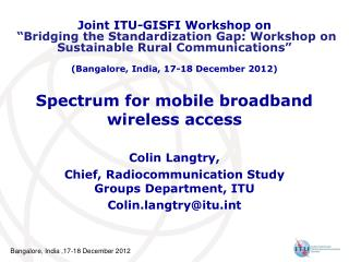 Spectrum for mobile broadband wireless access