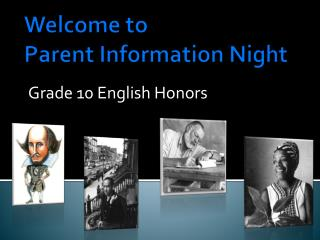 Welcome to  Parent Information Night