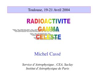 Toulouse, 19-21 Avril 2004