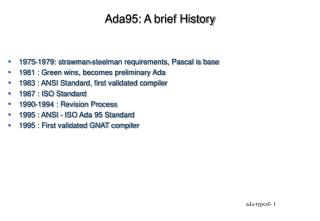 Ada95: A brief History