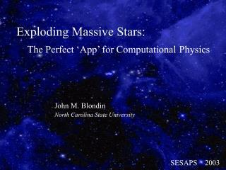 Exploding Massive Stars:
